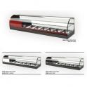 Stolní chlazená vitrína ONIX 6 2P černá, bílá, červená