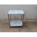 Nerezový stůl s policí, rozměry 560 x 760 x 900 mm