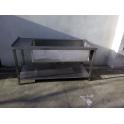 Nerezový stůl 1700 x 700 x 900 mm s vanou 4xGN 1/1 hloubka 370 mm