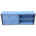 Závěsná skříňka nerezová uzavřená s posuvnými dvířky, rozměr (š x h x v): 1800 x 300 x 600 mm