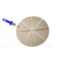 Lopata na pizzu sázecí hliník perforovaná Azzura 32 cm
