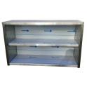 Závěsná nerezová skříňka otevřená, rozměr (š x h x v): 1700 x 300 x 600 mm