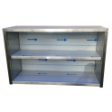 Závěsná nerezová skříňka otevřená, rozměr (d x h x v): 1800 x 300 x 600 mm