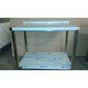 Nerezový stůl s policí 980 x 650 x 850 mm