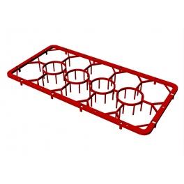 Plastový nástavec základní na sklenice 14 pozic C 1412 RedFox 00006814