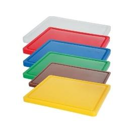 Deska barevná s drážkou 500 x 300 x 15 mm - červená