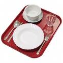 Podnos jídelní, barva červená, 36 x 46 cm