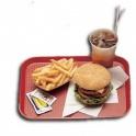 Podnos Fast Food, barva červená