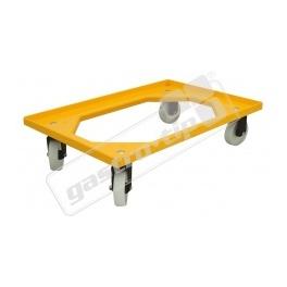 Vozík Complastec - 4 otočná ABS kolečka, žlutý