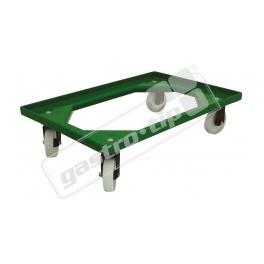 Vozík Complastec - 4 otočná ABS kolečka, zelený