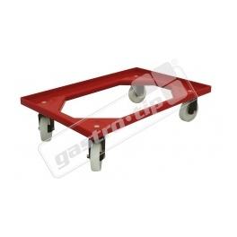 Vozík Complastec - 2 otočná gumová kolečka, červený