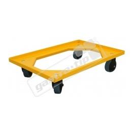 Vozík Complastec - 2 otočná gumová kolečka, žlutý