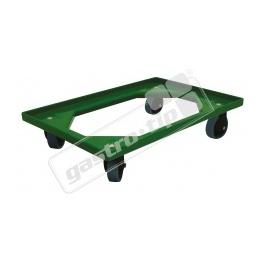 Vozík Complastec - 4 otočná gumová kolečka, zelený