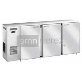 Chladící stůl barový BS-174/3D s agregátem vlevo (3x dveře / 1740 mm)