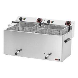 Fritéza elektrická 11+11 litrů s výpustí FE 1010T 400V RedFox