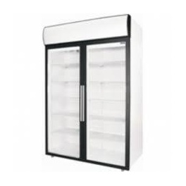 Dvoudveřová chladicí skříň s prosklenými křídlovými dveřmi Polair DM 114