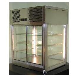 Stolní chladící prosklená vitrína s izolačními dvojskly QUEBEC 1100-2-G (M)