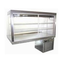 Nerezová stolní vitrína HALIFAX 150NS ECO (izolační dvojskla)