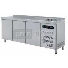 Chladící stůl ASBER ETP-6-200-30S (3x dveře, dřez / 2000 mm)