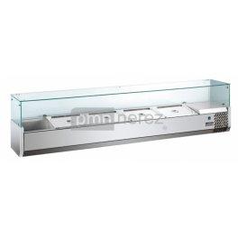 Pizza chladící pultová vitrína MVRX 1500-1/3GR, 7x GN 1/3 / délka 1492 mm