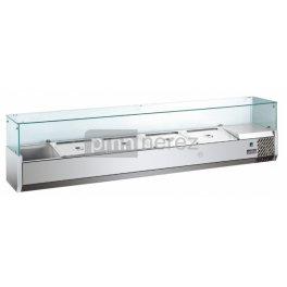 Pizza chladící pultová vitrína MVRX 1200-1/4GR, 5x GN 1/4 / délka 1342 mm