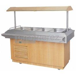 Chladící salátový bar COLD 4xGN 1/1 - dub