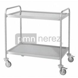 Servírovací vozík se dvěmi policemi 900 x 500 mm