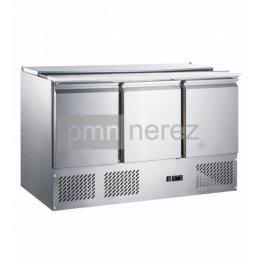 Chladicí stůl Saladeta MS-1370GR (3x dveře / 1365 mm)
