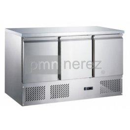 Chladící stůl Saladeta MS-1371GR (3x dveře / 1365 mm)
