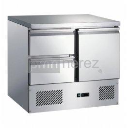 Chladící stůl Saladeta MS-901D2GR (1x dveře, 2x zásuvka / 900 mm)