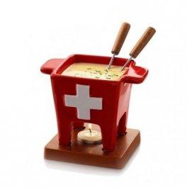 Fondue keramické červené Swiss Tapas BOSKA, 200 g, 2 osoby