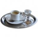 Tácek na kávu nerezový, 203 x 145 mm