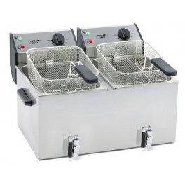Fritéza stolní elektrická FD 80 DR - objem 2 x 8 l - s výpustným ventilem
