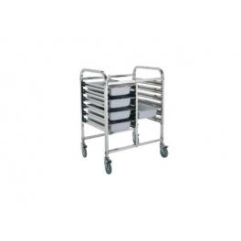 Regálový nerezový vozík RVJ-2x6GN