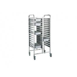 Regálový nerezový vozík RVJ-2x15GN