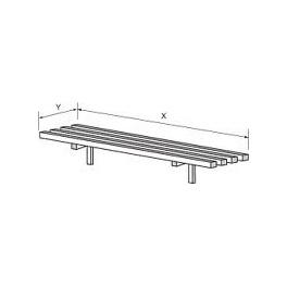 Pojezdová dráha - pojezd hranatý, rozměr (šxh): 2200 x 350 mm
