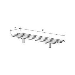 Pojezdová dráha - pojezd kulatý, rozměr (šxh): 2400 x 350 mm