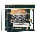 Gril plynový Rotisol Olympia 975-20LG s litinovým rekuperátorem, černý s mosaznými prvky