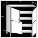 Dvojitá skříň zaplechovaná - křídlové dveře, rozměr (š x h x v): 800 x 600 x 1800 mm
