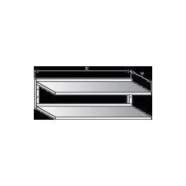 Police nerezová nástěnná dvoupatrová, rozměr (d x š): 1300 x 300 mm