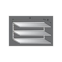 Police nerezová nástěnná třípatrová, rozměr (d x š): 1200 x 300 mm
