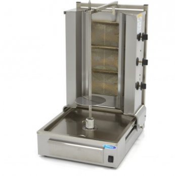 Kebab gril 3 pohyblivé hořáky do 40 kg