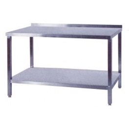 Pracovní stůl nerezový s policí, rozměr (d x š): 1300 x 600 x 900 mm