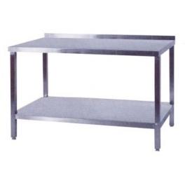 Pracovní stůl nerezový s policí, rozměr (d x š): 1300 x 700 x 900 mm